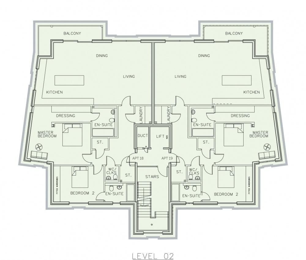 Floor plans coble developments ltd for Apartment block floor plans